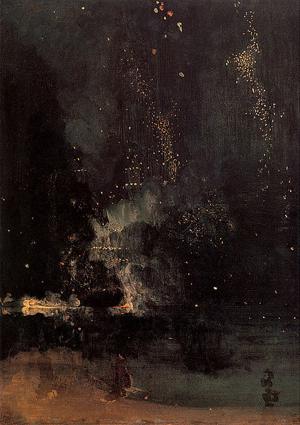 Datei:Whistler James Nocturne in Black and Gold The Falling Rocket 1875.jpg