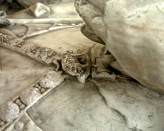Dunstable Swan Jewel - The white boar badge of Richard III as pendant to a Yorkist livery collar on the tomb monument of Sir Ralph Fitzherbert (died 1483) in Norbury, Derbyshire.