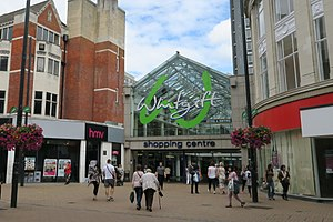 Whitgift Centre - Main entrance to Whitgift Centre from North End, Croydon