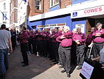 Wight Harmony band performing in Cowes High Street.JPG