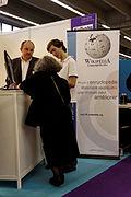 Wikimédia France - Salon de l'éducation, Paris, 2011.jpg