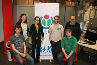 A photo of the staff of Wikimedia UK