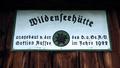Wildenseehuette sign Totes Gebirge Austria.png