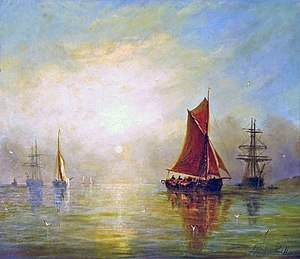 William Adolphus Knell - Image: William Adolphus Knell, 1859 Fishing Boats in a Calm