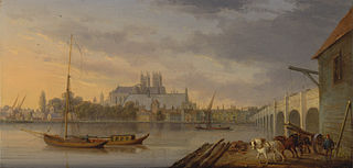 A View of Westminster Bridge and the Abbey from the South Side