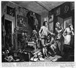 William Hogarth - A Rake's Progress - Plate 1 - The Young Heir Takes Possession Of The Miser's Effects.jpg