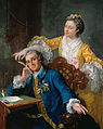 "William Hogarth - David Garrick (1717-79) with his wife Eva-Maria Veigel, ""La Violette"" or ""Violetti"" (1725 - 1822) - Google Art Project.jpg"