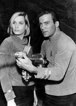 """Sally Kellerman - Kellerman and William Shatner in """"Where No Man Has Gone Before"""" (1966)"""