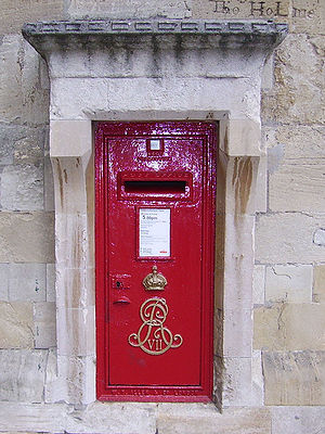Royal cypher - A post box in Windsor in Berkshire bearing the Royal cypher of King Edward VII, an intertwined EVIIR