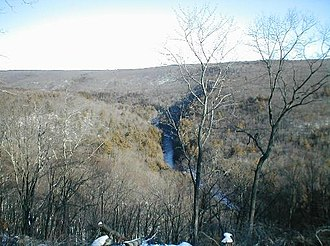 Neversink Gorge - Neversink Gorge in winter looking east