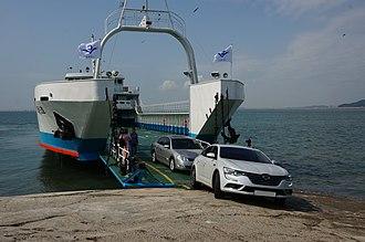 Wolmido - Landing on Wolmido island via ferry