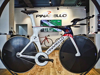 Track bicycle - The track bicycle made by Pinarello that Bradley Wiggins rode to break the hour record in June 2015