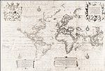 "Wright's ""Chart of the World on Mercator's Projection"""