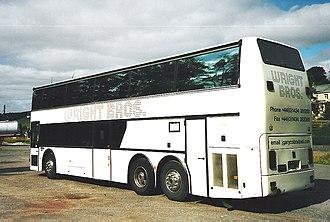 Van Hool - A British spec double deck Van Hool coach.