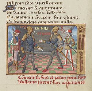 La Hire - La Hire and Xaintrailles depicted in a 15th-century illuminated book.