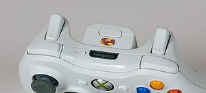 "Gamepad - Shoulder buttons (also called ""bumpers"") and triggers on an Xbox 360 controller."