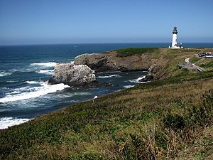 Yaquina Head - Yaquina Head Lighthouse from the southeast