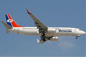 Yemenia - Image: Yemenia Boeing 737 800 Kv W