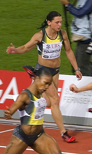 2010 IAAF World Indoor Championships – Women's 60 metres - Yevgeniya Polyakova was one of the fastest through the first round