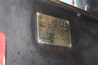 Yorkshire Patent Steam Wagon Co. -  The manufacturer's plate on a preserved steam wagon