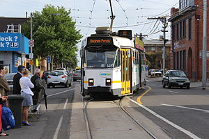 Melbourne tram route 82 - Z3 class tram at Moonee Ponds Junction in October 2012
