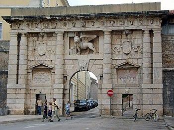 The Land Gate - the Porta Terraferma of Zadar