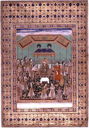 Zaman Shah Durrani - Zaman Shah Durrani in Durbar