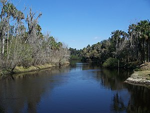 Peace River (Florida) - Image: Zolfo Springs Pioneer Park Peace River east 01