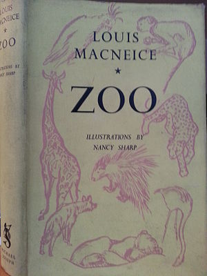 Louis MacNeice - First edition dust jacket of Zoo, (1938), illustrations by Nancy Sharp