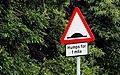 """Road humps"" sign, Belfast - geograph.org.uk - 1970068.jpg"