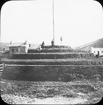 Tynwald Day - Tynwald mound in the late 19th or early 20th century