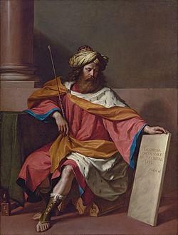 'King David', painting by Giovanni Francesco Barbieri (il Guercino) c. 1768.jpg