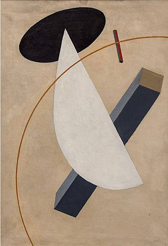 Constructivism (art) - 'Proun Vrashchenia' by El Lissitzky, 1919