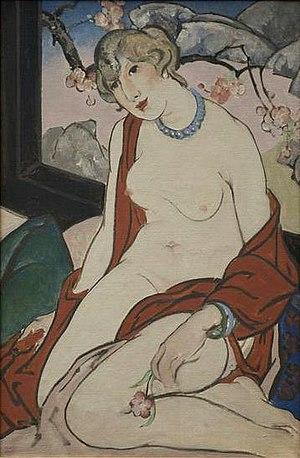 William Penhallow Henderson - 'Woman before Landscape' by William Penhallow Henderson