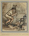 'nipper' in His Element, April 30th 1915; Cracking Up Cast Iron Plate for filling 'ticklers', Jam-tin Bombs for Use in Trenches Art.IWMART4293.jpg