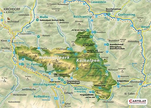 Nationalpark Kalkalpen Karte (UNESCO-Welterbe in Oberösterreich)