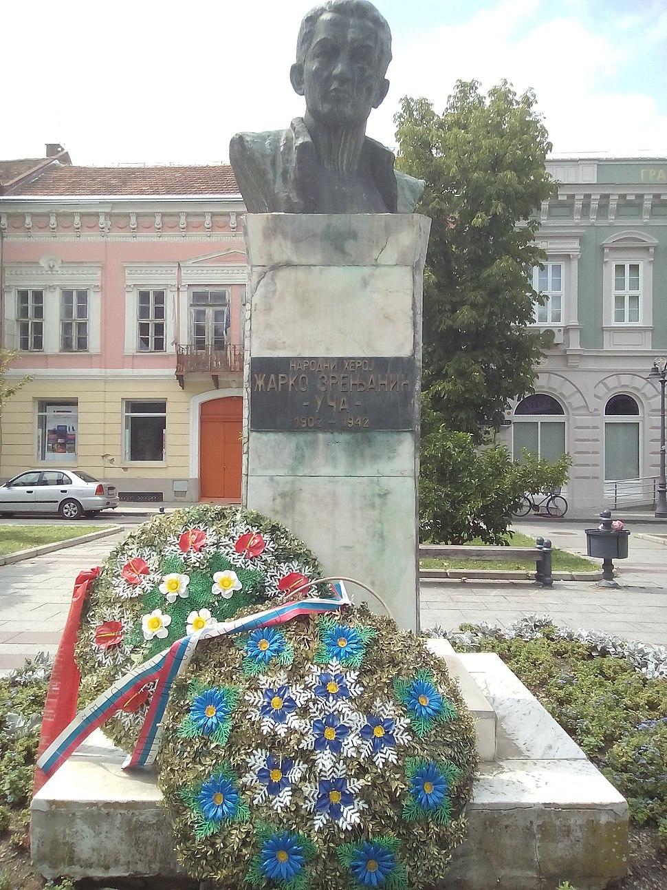 Žarko Zrenjanin monument in Vršac - Споменик Жарку Зрењанину у Вршцу