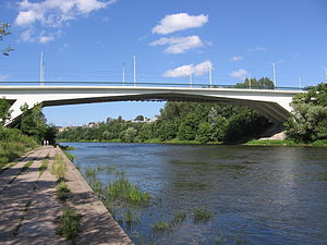 Neris - Žirmūnai Bridge over Neris in Vilnius, Lithuania
