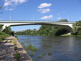 Neris - Žirmūnai Bridge over Neris in Vilnius, Lithuania