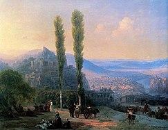 Вид Тифлиса кисти Ивана Айвазовского, 1869 год