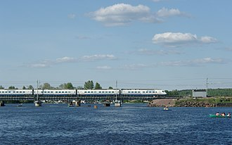 Transport in Russia - Allegro trains near Vyborg
