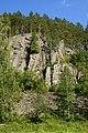 Выходы зеленых сланцев на правом берегу р. Тагил - panoramio.jpg