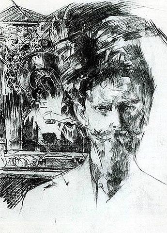 Портрет Усольцева на фоне иконы. 1904, частное собрание