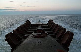 Ballistic missile submarine - SLBM hatches on Delta III-class submarine
