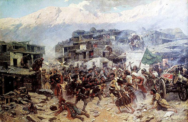 Сцена Кавказской войны 1817-1864 гг.