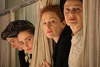 Fill the Void - From left to right: Irit Sheleg  as Rivka, Hadas Yaron as Shira, Hila Feldman as Frieda, and Razia Israeli as Aunt Hanna