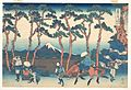 冨嶽三十六景 東海道保土ケ谷-Hodogaya on the Tōkaidō (Tōkaidō Hodogaya), from the series Thirty-six Views of Mount Fuji (Fugaku sanjūrokkei) MET DP141025.jpg