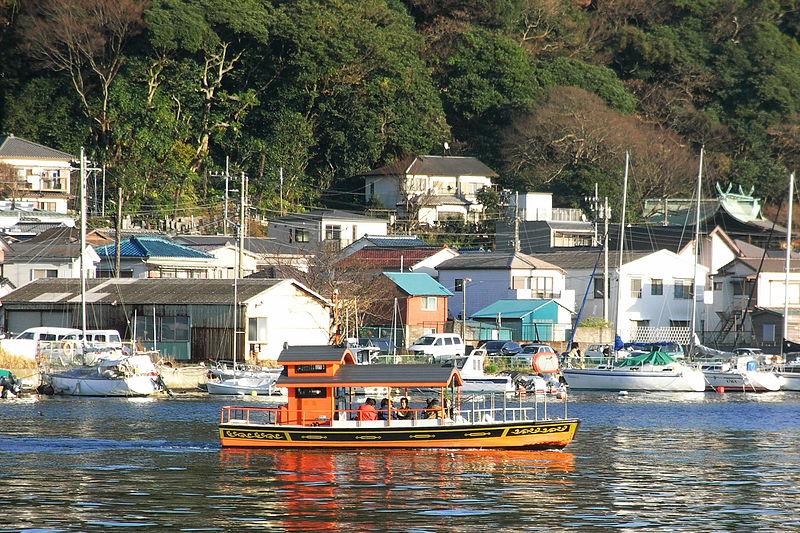 浦賀湾の東西を結ぶ渡し船