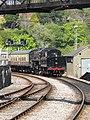 -2019-04-20 Steam locomotive 75014, Kingswear railway station, Devon (1).JPG