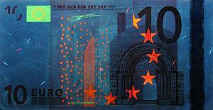 10 euro note - Obverse